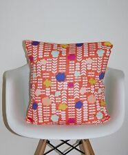 "CUSHION COVER 16 "" MULTI stem GEOMETRIC BLISS"" RETRO SCANDI DESIGNER NEW SUMMER~"