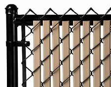 Chain Link Beige Double Wall Tube™ Privacy Slat For 4ft High Fence Bottom Lock