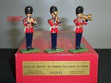 BRITAINS 40201 SCOTS GUARD BAND TROMBONE CLARINET CORNET TOY SOLDIER FIGURE SET