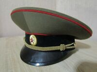 USSR Russian army officer parade uniform visor hat cap size-55