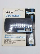 Vivitar 50 in 1 Card Reader/Writer + USB Hub