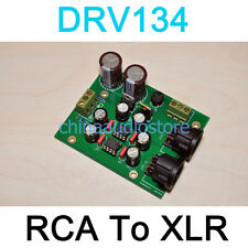 DRV134 RCA Unbalanced To Balanced XLR Adaptor Converter For Preamp Amplifier