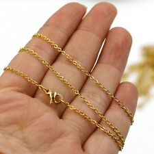 45cm long  gold plated Stainless Steel Fine Necklace Chain