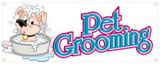 Pet Supplies Banner Soap Shampoo Food Dog Cat Bird Retail Store Sign 18x48