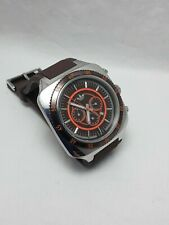 Adidas Men's Chronograph Brown Rubber Band Brown Dail With Date Watch ADH2004