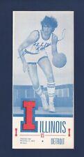University of Illinois vs Detroit Mercy Titans 1973 college Basketball program
