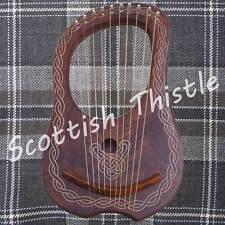 New Lyre Harp 10 Metal Strings+Free Tunning key & Carrying Case/HARFE/ARPA