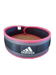 Adidas Nylon Lumbar Lifting Belt Size XL Gym Power Weight Training Back Support