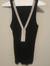 A.B.S. Allen Schwartz Women's M Size Rhinestone V-neck Magenta Camisole Top