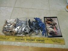 TSSD Figure Set 10 Cavalry Charge Dark Blue 6 Figures Toy Plastic Soldiers 1/32