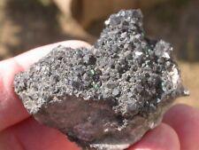 RARE - Torbernite sur quartz noir - MARGABAL