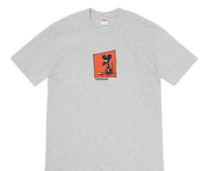 SUPREME MOUSE TEE/ HEATHER GREY SIZE XL SS21 WEEK 1 (IN HAND) AUTHENTIC  NEW