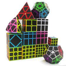 New Z-cube Magic Carbon Fiber Sticker Cube Speed Puzzle Twisty Toy Black 12 Set
