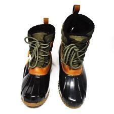 NEW Sporto Women 9M Duck Rain Boots Olive Quilted Faux Fur Waterproof  MISSIZED