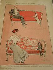 Les Metamorphoses de l'Hymen dessin Fabiano Print Art Déco 1907