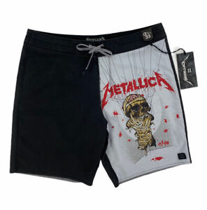 NEW Billabong x Metallica Landmine One Mens Board Shorts Swim Black White Red