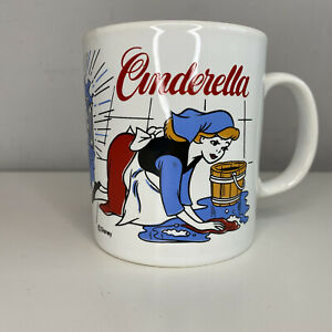 Disney Cinderella Mug / Cup Kilncraft England / Vintage / Retro White GC Classic