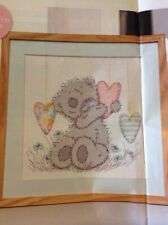(D) Me To You Tatty Teddy Bear And Hearts Cross Stitch Chart