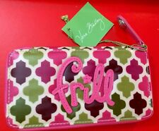 Vera Bradley Frill Hello Dahlia! Pink/Purple/Green Vinyl Cosmetic Brush Holder