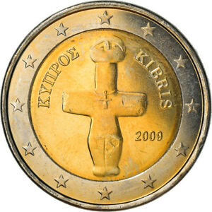[#382099] Chypre, 2 Euro, 2009, SUP+, Bi-Metallic, KM:85