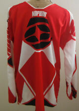 SPECTRUM 'NO FEAR' MEN'S SIZE SMALL RED/BLACK/WHITE LONG SLEEVE RACING JERSEY