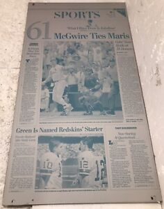 Vintage Newspaper Printing Plates WASHINGTON POST McGwire/ Sosa 98' Series Of 4