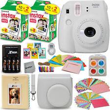 Fujifilm Instax Mini 9 Instant Camera, Smokey White+ 40 Sheet Film+Accessory KIT