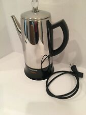 CUISINART CLASSIC  STAINLESS ELECTRIC 12 CUP PERCOLATOR  COFFEE POT KITCHEN