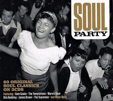 SOUL PARTY - 60 ORIGINAL SOUL CLASSICS - VARIOUS ARTISTS (NEW SEALED 3CD)