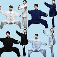 Chinese Cotton Silk Kung Fu Tai Chi Uniform Martial Arts Wushu Wing Chun Suit