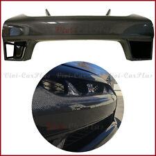For 08-11 Nissan GT-R R35 W Type Carbon Fiber Front Bumper Center Guards Grille