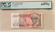 New ListingPcgs World Certified Paper Money 1993 Zaire Banque du Zaire Gem New 66