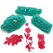 3pcs Plastic Flower Embosser Cake Fondant Sugarcraft Decorating Tools Cutters