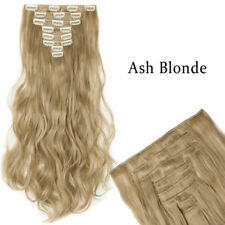 Mega Thick Full Head Clip in 8pcs Hair Extensions Blonde Brown Straight Wavy T82