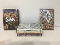 The Sims 2 & 3 - Expansion Packs Lot Of 6 PC Computer Games, Seasons, Late night