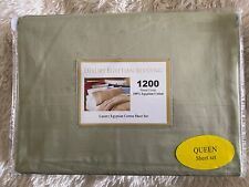 Sheets, 1200 thread count, new, luxury Egyptian Cotton, sage green, Queen set