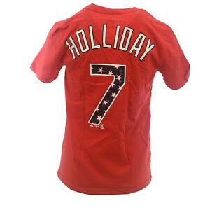 St. Louis Cardinals Official MLB Majestic Kids Youth Size Matt Holliday T-Shirt