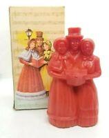Vtg Avon Christmas Carollers Festive Garlands Decorative Pomander Wax Candle