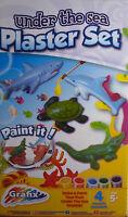 Under the Sea Make your Own Plaster Set (Shark, Crocodile, Sea Turtle & Dolphin)