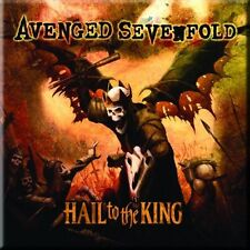 """AVENGED SEVENFOLD Hail To The King  fridge magnet 3"""" sqr metal gift free UK P&P"""