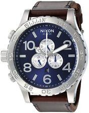 Nouveau Nixon 51-30 A124-2301 Montre Homme Teinte Argenté Bracelet Marron - Jour