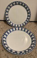 """Dansk PARISIAN BLUE 8 3/4"""" Salad Plates Set of 2"""