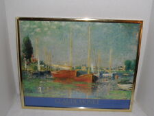 Claude Monet Framed  Argenteuil Collection du Musee du Louvre Two Red Boats