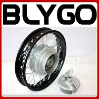 "BLACK 2.50 - 10 1.4X 10 10"" Inch Back Drum Brake Hub Wheel Rim PIT PRO Dirt Bike"