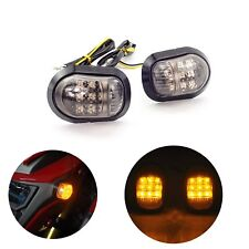 2x Motorcycle Bike LED Turn Signal Blinker light Indicators Amber 12V Universal