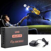 4K Splitter HD 1080p HDMI Convertisseur 1X4 Port pour HDTV DVD PS3 Xbox EU Plug