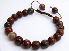 Natural Gemstone Men's Shamballa bracelet 10mm COLORFUL RAINBOW JASPER beads