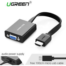 Ugreen 1080P Active HDMI to VGA Audio adapter Converter+Mirco USB Charging Cable