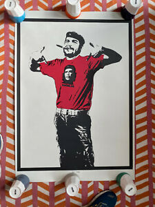 DOLK CHE rare signed limited edition screen print 50/100 2006 extra large POW