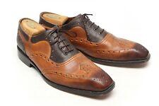 George Escquivel Vanas Mens Shoes 10 Brown Cognac Wingtip Oxford Made in USA